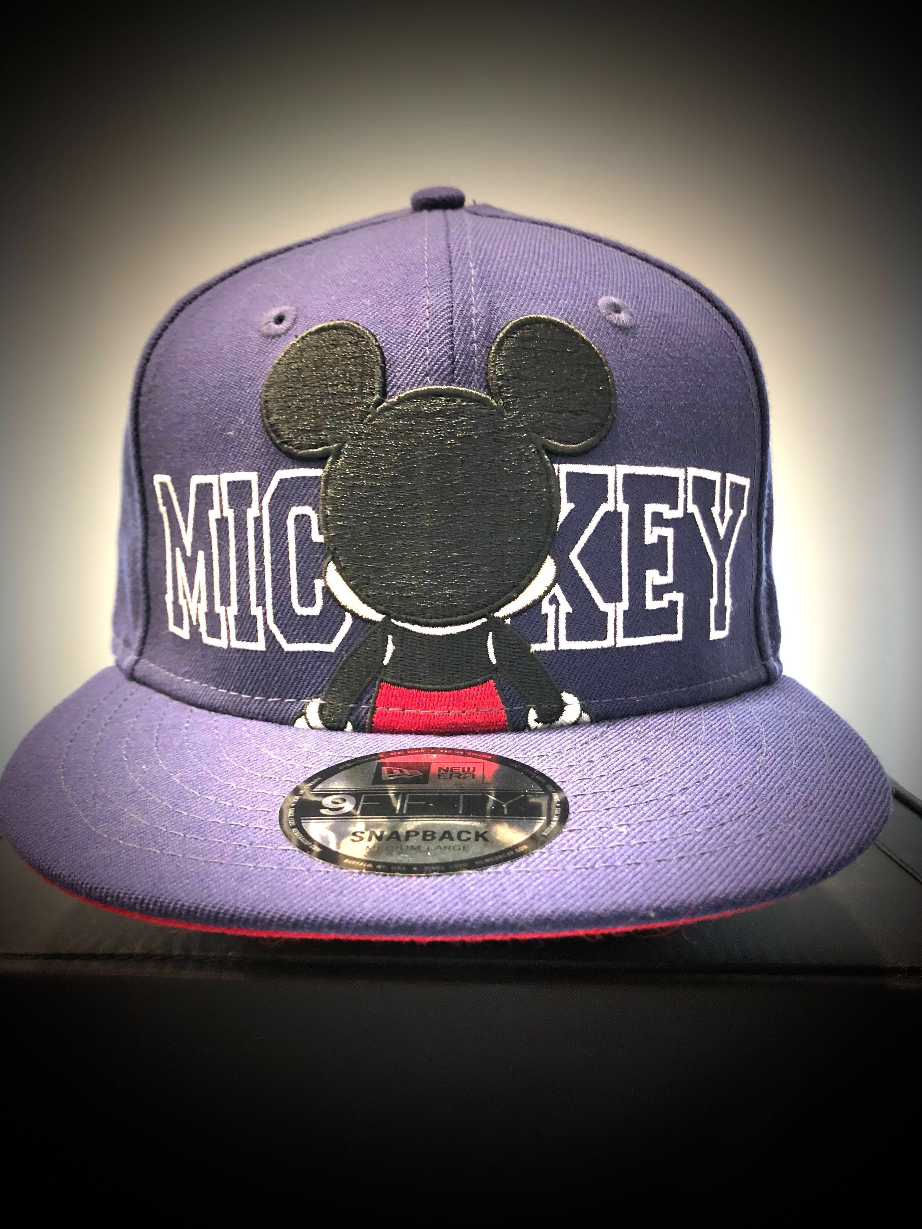 2e4dd4d2f7310 New Era Cap 9 FIFTY SNAPBACK DISNEY Addition MICKEY MOUSE 🐭 💯% authentic    brand-new Made of 100% wool woven Color  Blue -Red SIZE  adjustable M-L