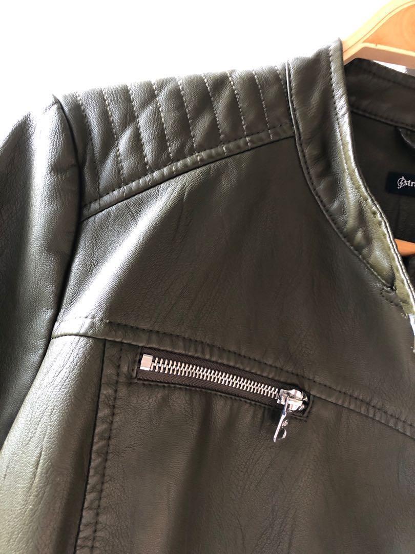NEW Leather Jacket Stradivarius