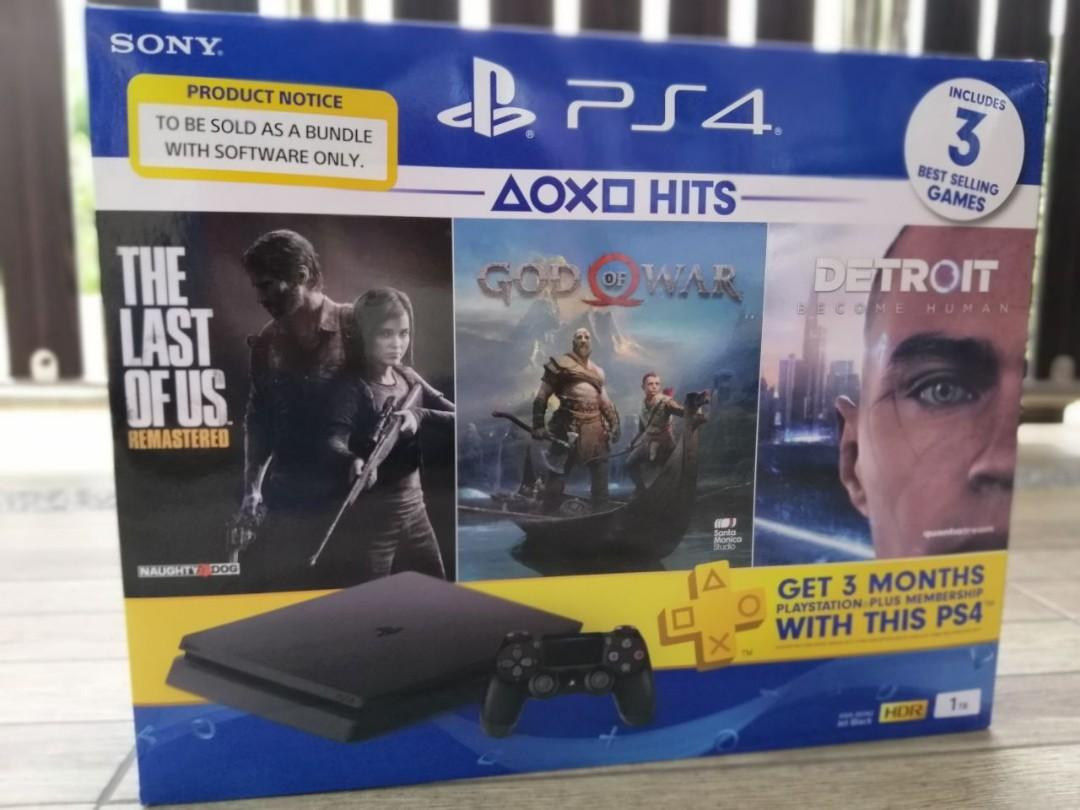 New Sony PlayStation 4 Slim 1TB HITS BUNDLE (COD MUAR, JOHOR)