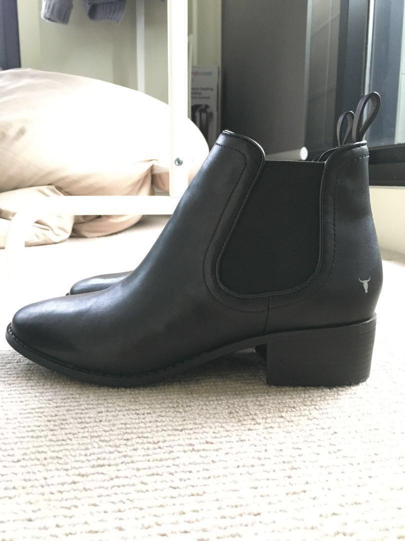 *NEW* Windsorsmith Farah Black Leather Chelsea Boots