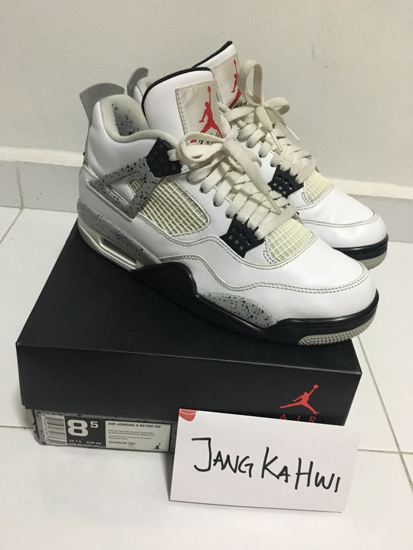 save off c88f6 07547 Nike Air Jordan Retro 4 - White Cement 2016, Men s Fashion, Footwear ...