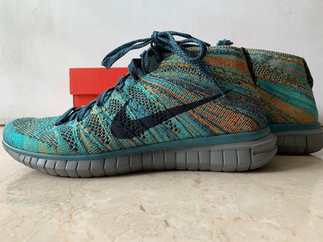 7d8aedbe1b329 Nike Free Flyknit Chukka - Mineral Teal