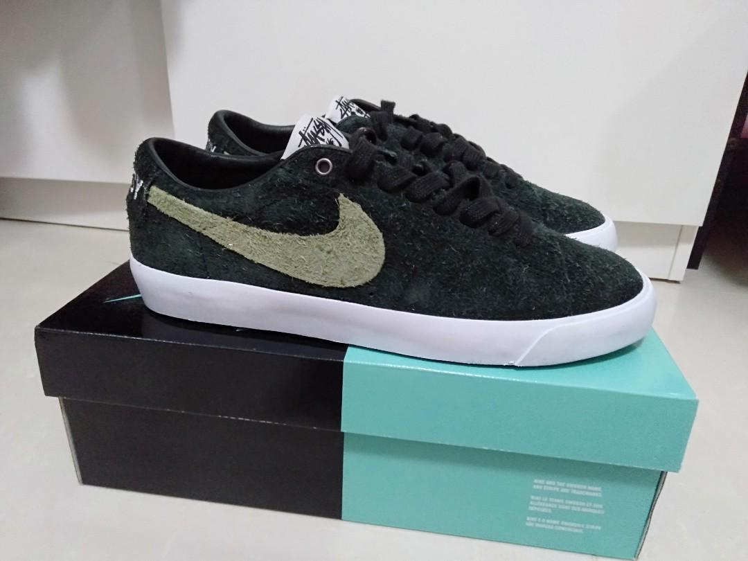 quality design 8a4fc 5baab Nike SB x Stussy Zoom Blazer Low black/palm green, Men's ...