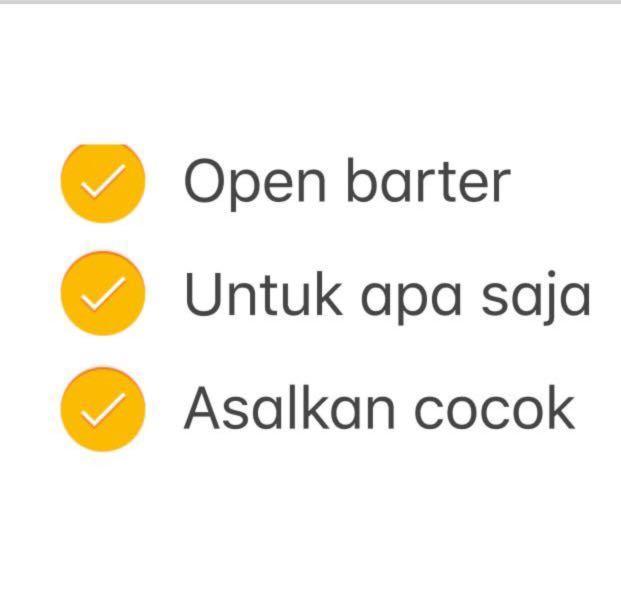 Open barter / bisa barter / boleh barter