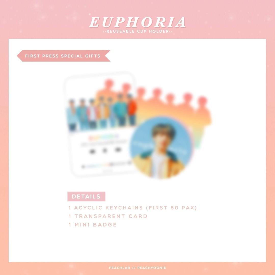 BTS Euphoria Reuseable Cupholder