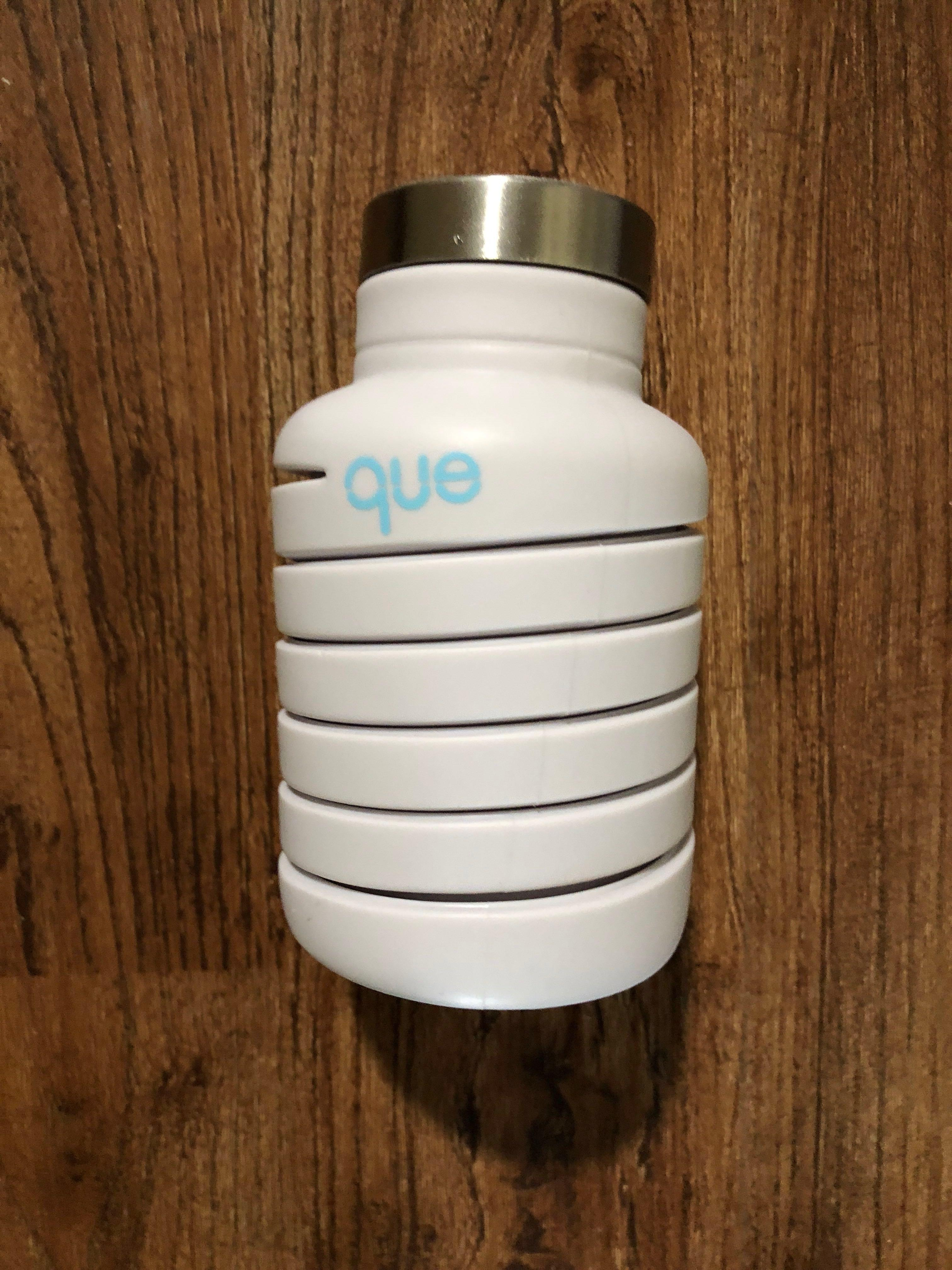 Que Silicon Collapsible Water Bottle