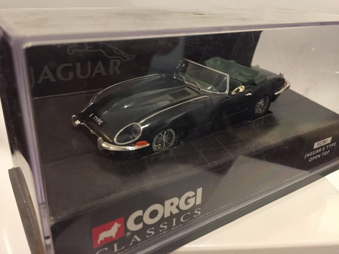 Rare 1 43 Corgi Jaguar Etype Open Top Green Toys Games Others On