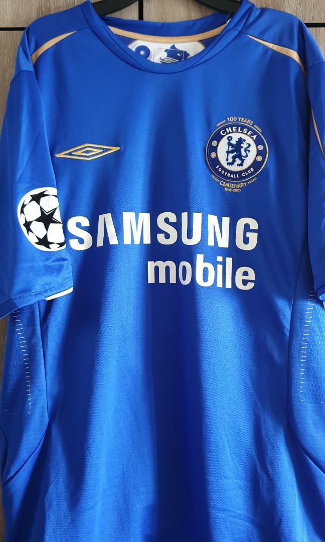 buy popular 1769c a8768 Rare Chelsea Centenary jersey umbro shirt, Sports, Sports ...
