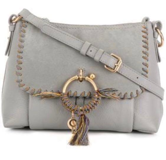 See by Chloe Small Joan in Grey with Rope Whipstitch