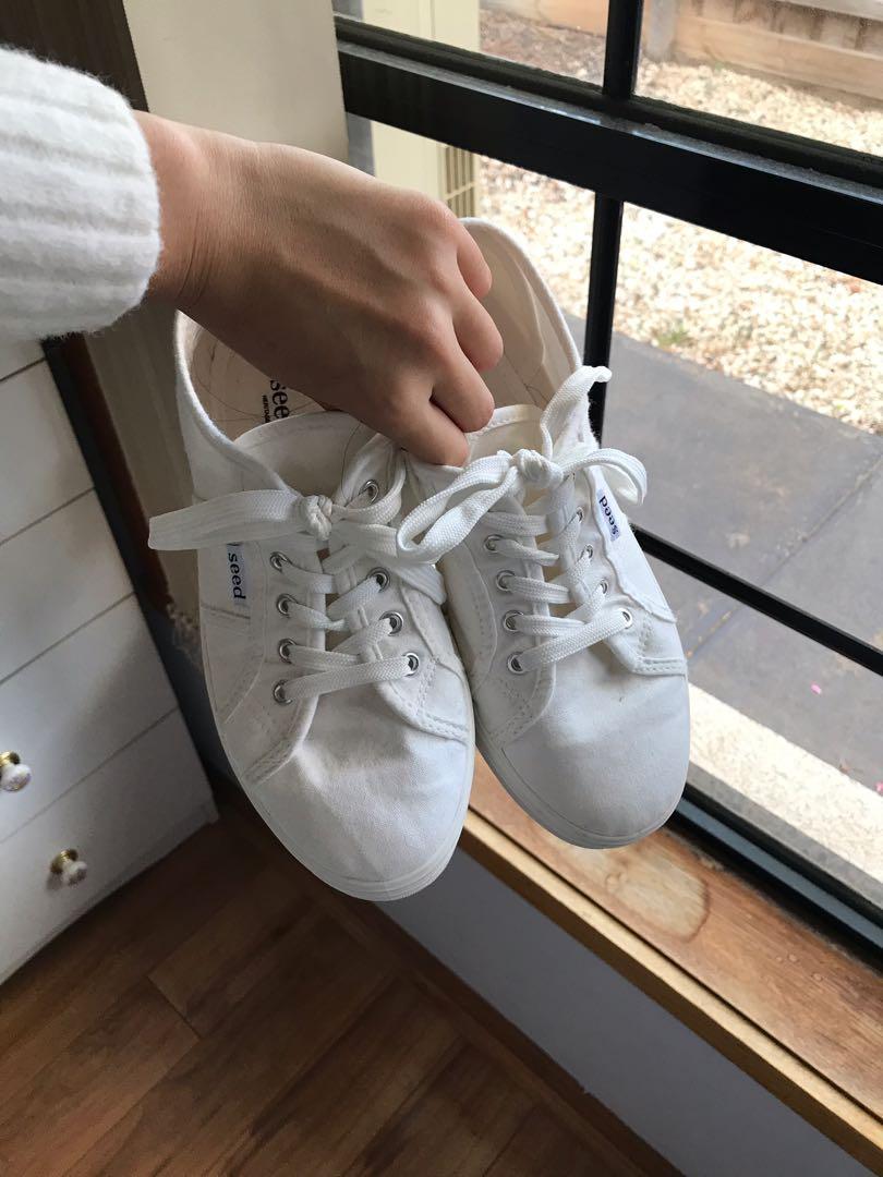 Seed Billie Platform Sneakers White
