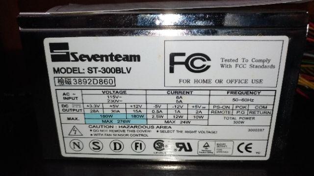 Seventeam Model-St300BLV  全新電源供應器