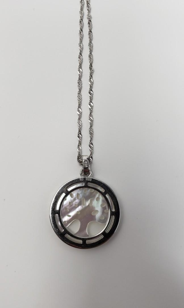 Silver Tree of life neckless. (Real pearl)(925) 70$