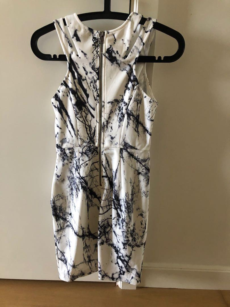 White marble party dress
