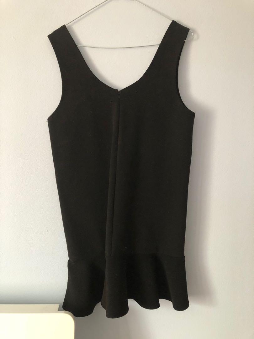 Wool pinafore shift dress