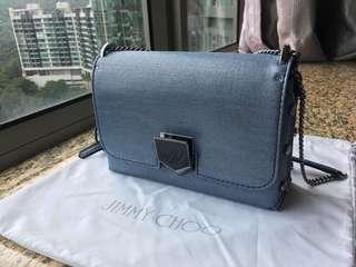 Jimmy Choo Lockett Shoulder Bag - Denim