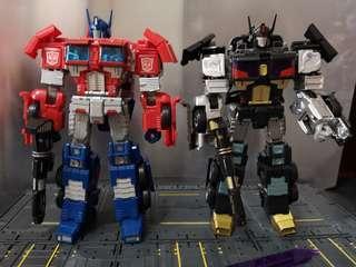 Transformers Combiner Wars Optimus Prime, Ultra Magnus and Nemesis Prime add ons