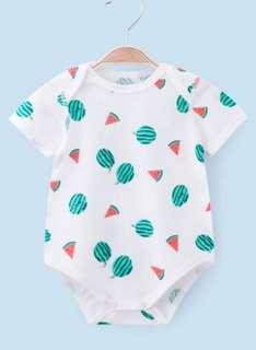 🚚 [Pre-order] Soft airy mesh cotton baby romper clothes cool watermelon