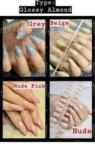 Glossy Fake Nails/ Kuku Palsu