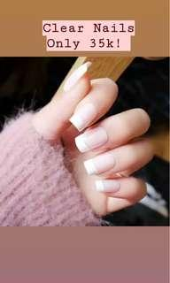 Clear Fake Nails/ Kuku Palsu