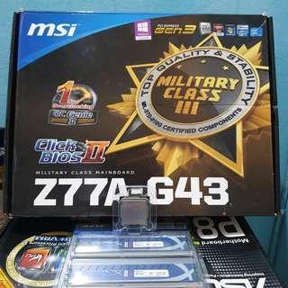 I7 2600 + MSI Z77 Motherboard + HyperX 1600 8GB (4gb+4gb)