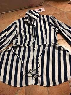 🚚 Collared Striped Top