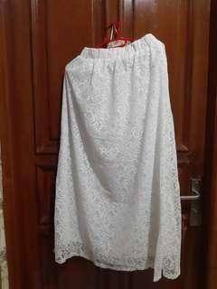 White Skirt lace baru sale