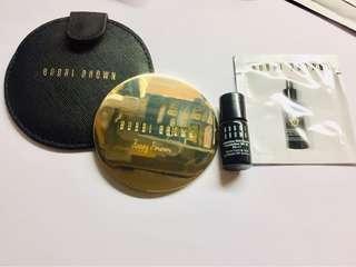 BOBBI BROWN mirror with bag + 4.5mL intensive skin serum foundation