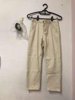 🚚 米色燈芯絨直筒褲