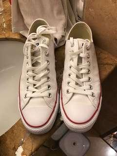 Converse white leather low top all star