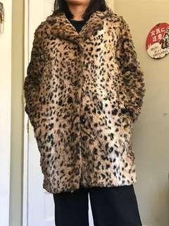 Aritzia Leopard Print Coat, Size XS