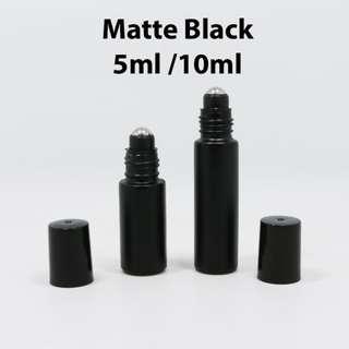 🔥 {Restocked) Matte Black Glass Roll Ons 5 / 10ml
