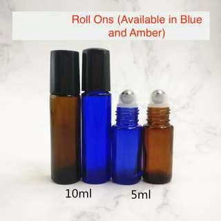 🎄 6pcs 5ml/10ml (Blue/Brown) Roll ons