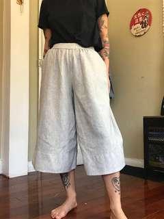 Le Fou Wool/Cashmere Culottes, Size XXS