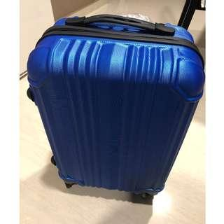 17 inch Hard Case Luggage Suitcase in Sporty Trendy Chrome Blue (Brand New)