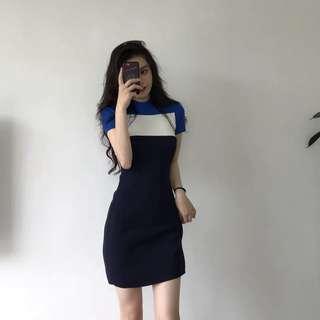Sorella shift dress (navy/white)