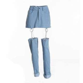 🚚 chain cut out jeans