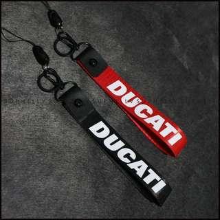 Hella Flush style Honda DUcati -Nylon Belt Car Keychain Auto Key Ring Black Wrist Lanyard Motorcycle Key Holder Metal for Car key strap Accessories