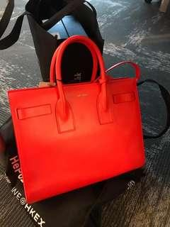 全新Ysl手挽袋紅色