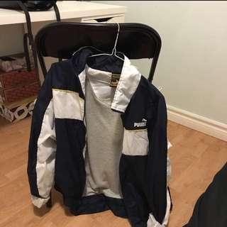 Vintage puma oversized windbreaker jacket