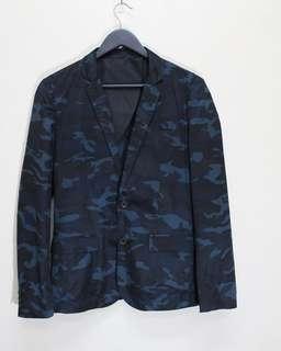 Valentino Blue camou blazer