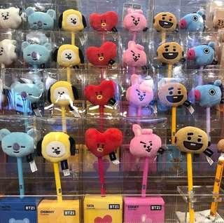 BT21 Cooky Plush Pen (New and Ready Stock) - RM33
