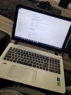 HP Envy 15 inch touchscreen laptop