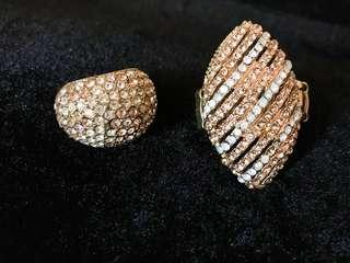 Fashion Rings with Stone ( take both)
