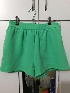Kookai Green Shorts
