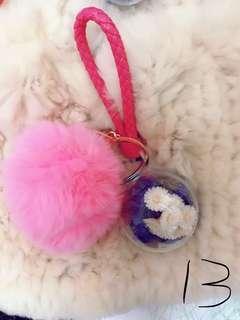 🚚 隱藏的愛~粉紅毛球乾燥花吊飾