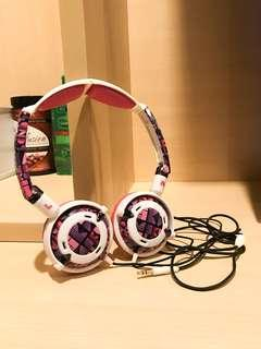 Skull Candy Pink/Purple/White Headphones