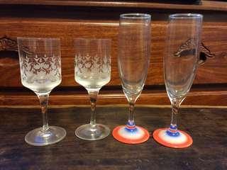 六七十年代玻璃酒杯