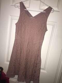 Powder pink A&E dress