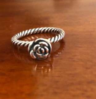 Pandora Size 56 Two Tone Rose ring