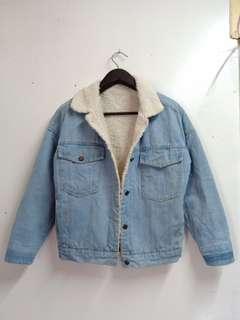 Denim.Jacket with warmer